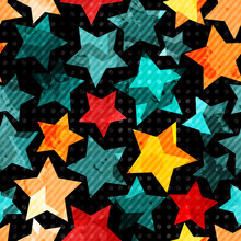 Abstract Stars Seamless