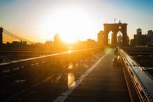 The Brooklyn Bridge Sunrise, N...