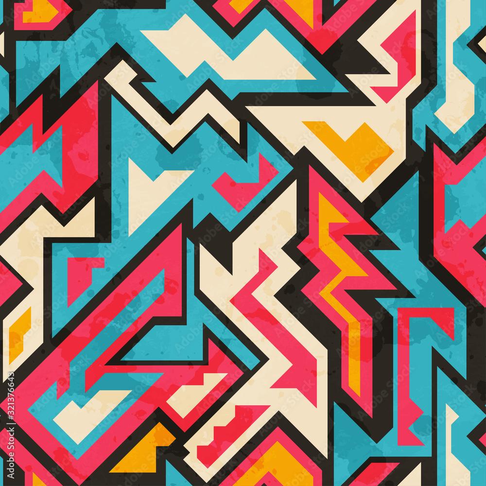 Fototapeta colored african seamless pattern