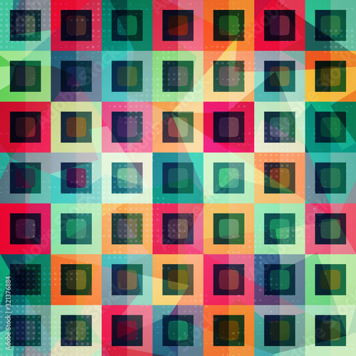 Fototapety, obrazy: colored squares seamless pattern