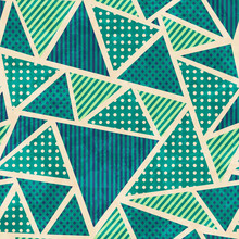Green Color Fabric Seamless Pa...