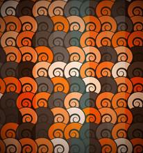 Orange Spiral Pattern Seamless