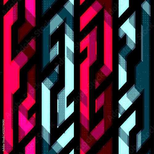 Photo vintage crystal geometric seamless pattern
