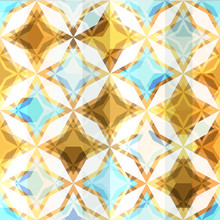 Vintage Mosaic Star Seamless