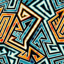 Yellow Maze Seamless Pattern