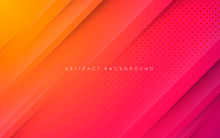 Modern Abstract Gradient Orange And Purple Background Concept With Gold Line And Dots Decoration