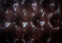 Close Up Vintage Brown Leather...