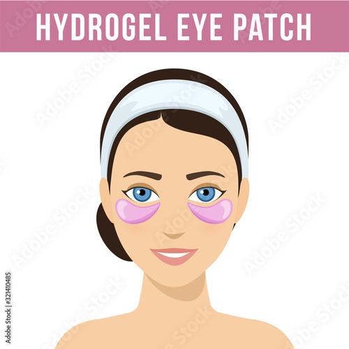 Canvastavla Pink hydrogel eye patches