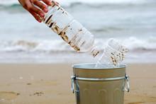 Sea Plastic Trash, Beach Clean...
