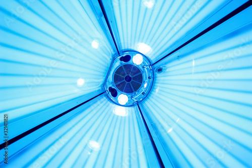 Obraz Solarium tanning bed, view from inside - fototapety do salonu