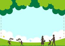 子育て 自然の風景
