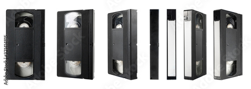 Leinwand Poster video tape cassette isolated on white background
