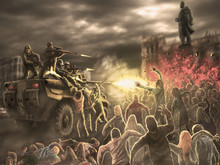 Angry Zombie Horde Attack On A...