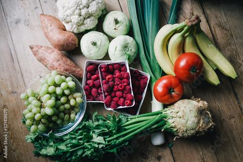 Gemüse Einkauf Wallpaper Mural