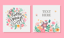 Hello Spring Flowers Text Back...