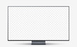 Mockup Realistic frameless television screen with blank screen for your design. Vector illustration Ai 10