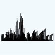 Modern City skyline . city silhouette. vector illustration in flat design