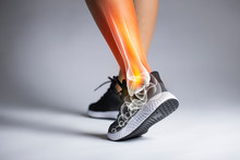 Ankle Pain In Detail - Sports Injuries Concept.
