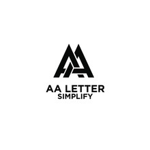 AA Simple Letter Logo Design With Isolated White Background