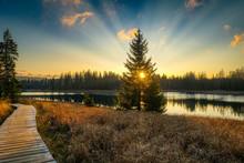 Sonnenuntergang Im Harz