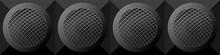 Seamless Pattern Black Round M...