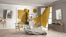 White And Yellow Living Room, ...