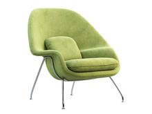Mid-century Light Green Fabric...