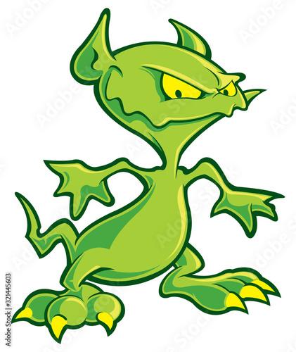 Платно Gremlin cartoon character