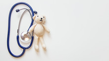 Stethoscope And Teddy Bear Iso...