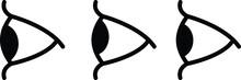 Eye Side Icon, Vector Illustra...