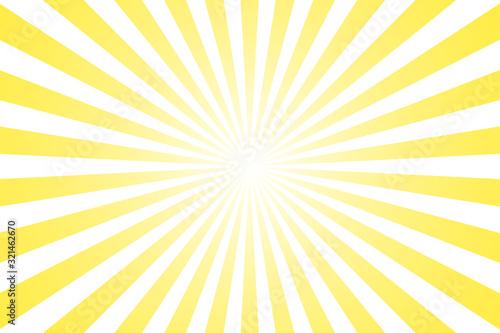 Fototapeta Sunburst retro sun rays yellow background. Abstract summer sunny. Vintage radial texture. obraz na płótnie