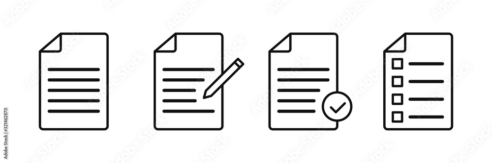 Fototapeta Document vector icons isolated. File vector icon. Accept file sign or symbol.
