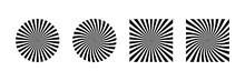 Rays Beam Vector Element Isolated. Rays Striped Patterns. Graphic Design Geometric Shape. Vintage Sunburst. Sun Burst Star Burst Sunshine.