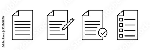 Obraz Document vector icons isolated. File vector icon. Accept file sign or symbol. - fototapety do salonu