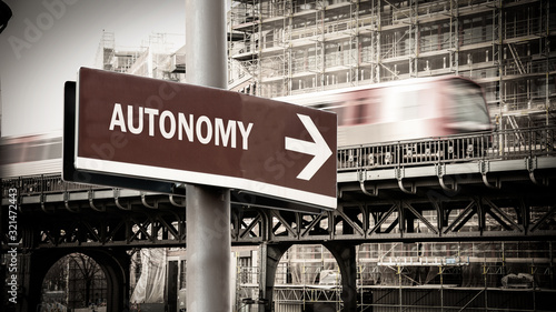 Street Sign to Autonomy Wallpaper Mural