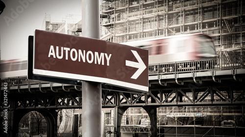Street Sign to Autonomy Canvas Print
