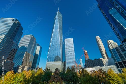 New York City downtown skyline in USA