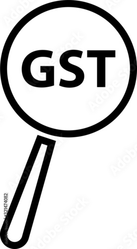 Goods and Service Tax acronym GST, vector illustration Canvas Print