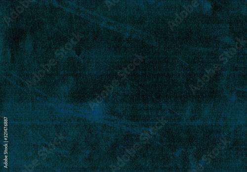 Close-up dirty vintage dark blue scratchy metal background Canvas Print