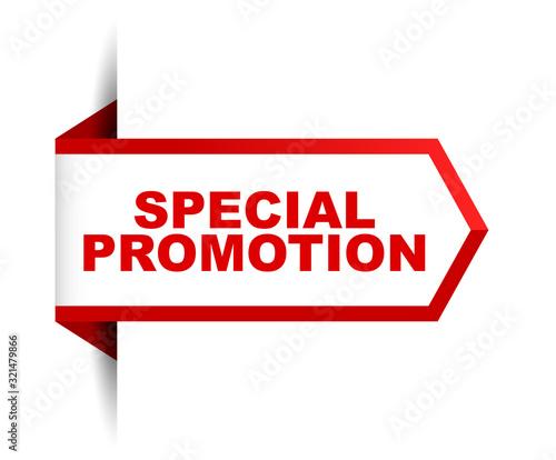 Fotografía red vector banner special promotion