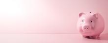 Pink Piggy Bank On A Pink Back...