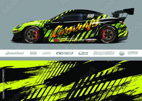 Obraz na płótnie Race car livery design vector
