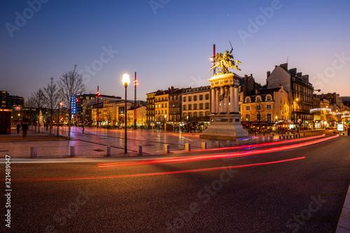 Fotomural Place de Jaude la nuit