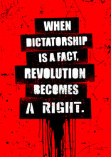 When Dictatorship Is A Fact, R...