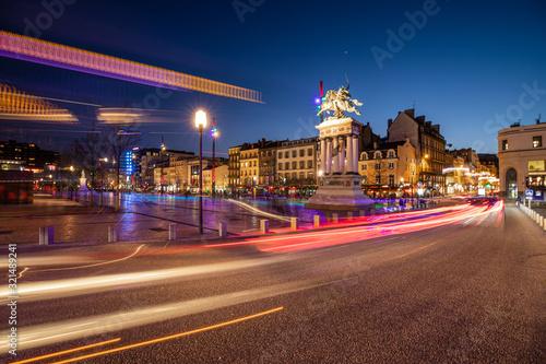 Fotografering Place de Jaude la nuit