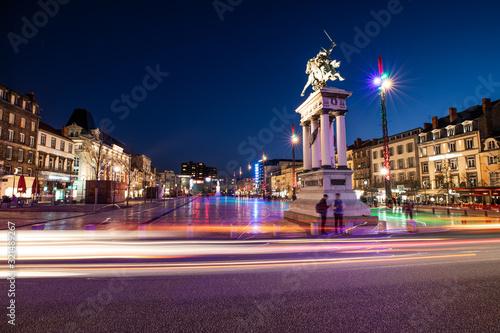 Fototapeta Place de Jaude la nuit