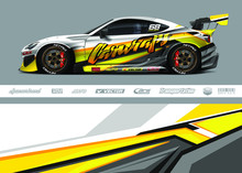 Race Car Livery Design Vector....