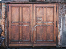Wooden Door Or Wood Gate With ...