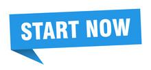 Start Now Speech Bubble. Start...