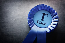 First Place Award Rosette With...